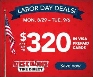 Discount Tire Direct Labor Day Sale