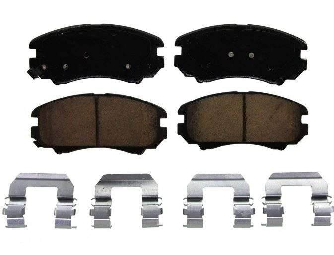 Disc Brake Pad Set-ThermoQuiet Disc Brake Pad Front Wagner QC976